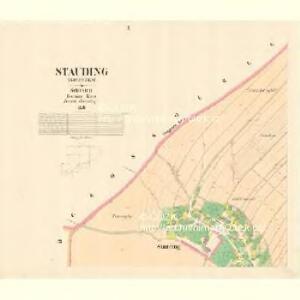 Stauding (Studenka) - m2931-1-002 - Kaiserpflichtexemplar der Landkarten des stabilen Katasters