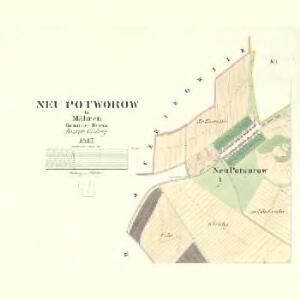 Neu Potworow - m2081-1-001 - Kaiserpflichtexemplar der Landkarten des stabilen Katasters