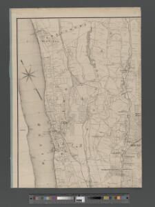 Map of upper New York City and adjacent country showing the city above 125th Street. The City of Yonkers and Townships of East Chester, Westchester, Pelham, New Rochelle. . . Mamaroneck. Made by actual surveys under the direction of R. W. Burrowes, C....