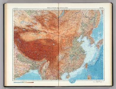 108-109.  China, Mongolia, Korea.  The World Atlas.