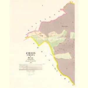 Zalles (Zalezla) - c9105-1-001 - Kaiserpflichtexemplar der Landkarten des stabilen Katasters