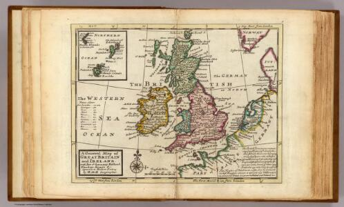 A general map of Great Britain and Ireland.