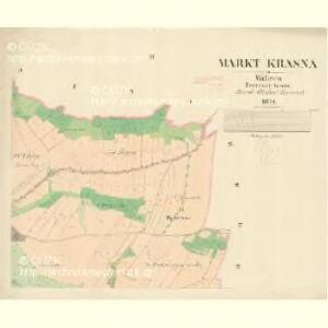 Krasna - m1349-1-002 - Kaiserpflichtexemplar der Landkarten des stabilen Katasters
