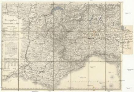 Strassen-Karte der westlichen Alpen