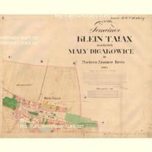 Klein Tajax - m0607-1-001 - Kaiserpflichtexemplar der Landkarten des stabilen Katasters