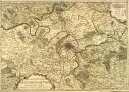 Carte nouvelle des environs de Paris contenant aussy la Brie