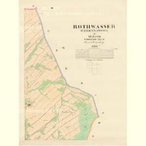 Rothwasser (Čerwenawoda) - m0386-1-002 - Kaiserpflichtexemplar der Landkarten des stabilen Katasters