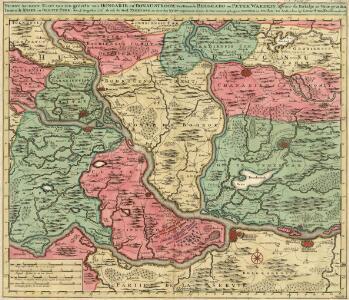 Nieuwe Accurate Kaert van een gedeelte van Hongarie, en Donau Stroom Vertonnende Belgrado en Peter Wardein