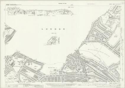 Surrey VIII.13 & 9 & 10 (includes: Camberwell; Croydon St John The Baptist; Lambeth St Mary; Mitcham; Wandsworth Borough) - 25 Inch Map