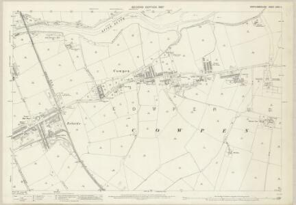 Northumberland (Old Series) LXXIII.9 (includes: Bedlington; Blyth) - 25 Inch Map