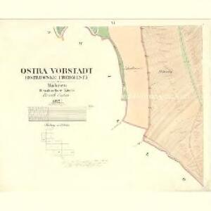 Ostra Vorstadt (Ostrowse Předmwstj) - m2196-1-005 - Kaiserpflichtexemplar der Landkarten des stabilen Katasters