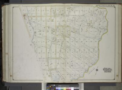 Brooklyn, Vol. 1, 2nd Part, Double Page Plate No. 46; Part of Wards 26, Section 14; [Map bounded by Dumont Ave., boundary line of the boroughs of Brooklyn and Queens, Vandalia Ave.; Including Crescent St., Fairfield Ave., Fountain Ave.] / by and under...