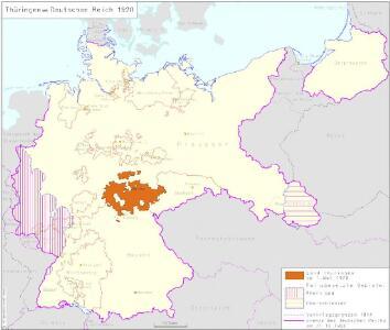 Thüringen im Deutschen Reich 1920