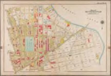 Plate 13: [Bounded by Calyer Street, Front Street (Newtown Creek), Bridgewater Street, Meeker Avenue, Gardiner Avenue, Townsend Street, Scott Avenue, Division Place, Gardiner Avenue, Amos Street, Morgan Avenue, Division Place, Kingsland Avenue, Herbert Street, N. Henry Street, Meeker Avenue, Graham Avenue, Driggs Street, Newell Street, Norman Avenue and Diamond Street.]; Atlas of the borough of Brooklyn, city of New York: from actual surveys and official plans by George W. and Walter S. Bromley.