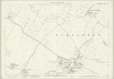 Gloucestershire XIX.14 (includes: Boddington; Elmstone Hardwicke; Uckington) - 25 Inch Map