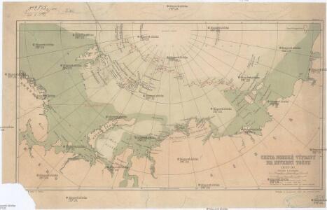 Cesta norské výpravy na severní točnu 1893-1896