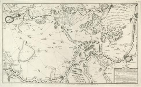 Plan des Retranchemens et du Camp de Denain, ou est marqué :