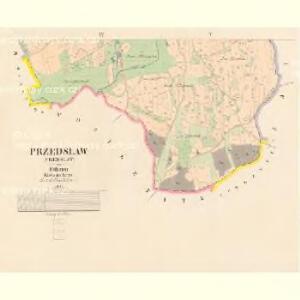 Przedslaw (Předslaw) - c6186-1-003 - Kaiserpflichtexemplar der Landkarten des stabilen Katasters