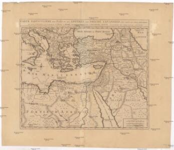 Carte patriculiére des pais ou les apôtres ont preché l'euangile, des lieux les plus renommez de leurs voyages, et de la route de St. Paul a Rome