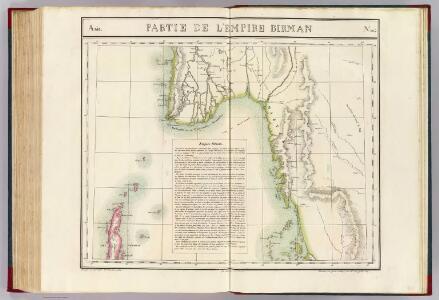 Partie, l'Empire Birman. Asie 104.