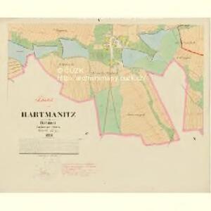 Hartmanitz - c1784-1-005 - Kaiserpflichtexemplar der Landkarten des stabilen Katasters