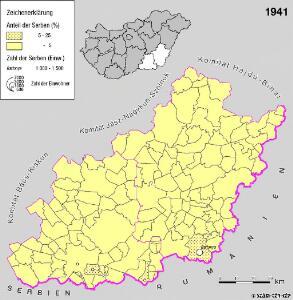 Serben in der Südlichen Tiefebene 1941