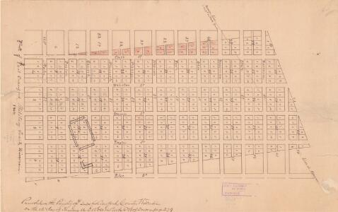 Plat of Fort Crawford Military Tract, Wisconsin, 1864.
