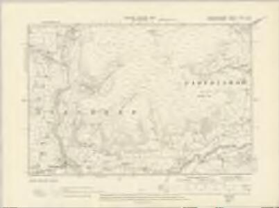 Brecknockshire XXXVI.SW - OS Six-Inch Map
