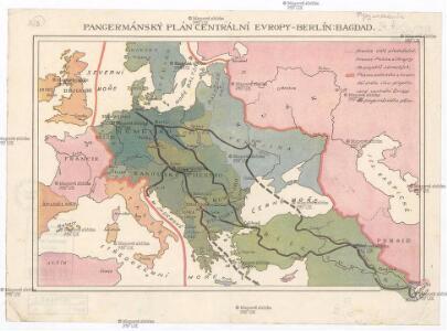 Pangermánský plán centrální Evropy - Berlín-Bagdad
