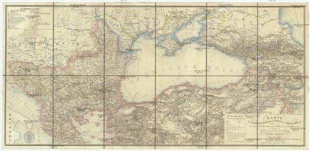 Karte der europäischen Türkei und des Gebietes des schwarzen Meeres