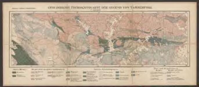 Geologische Übersichtskarte der Gegend von Tammerfors