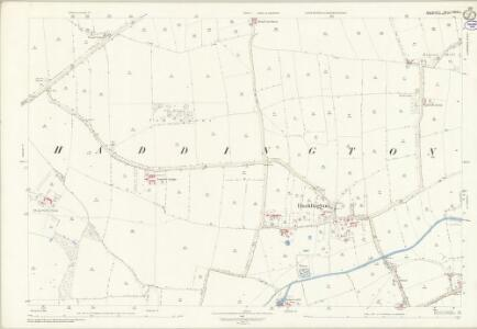 Lincolnshire LXXVII.12 (includes: Aubourn Haddington and South Hykeham; Thorpe on the Hill; Thurlby) - 25 Inch Map