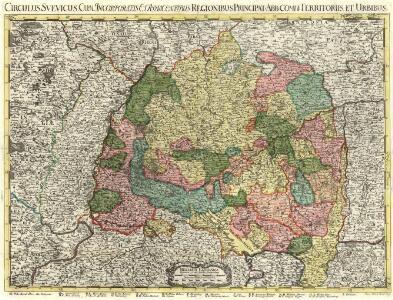 Circulus Svevicus, Cum Incorporatis et Adiacentibus Regionibus, Principat: Abb: Comit: Territoriis et Urbibus