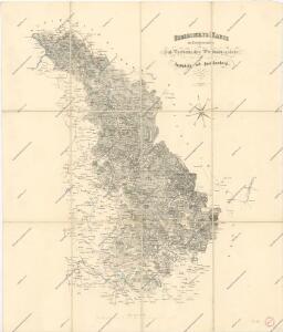 Uebesichts Karte des Eisenbahnzuges...Pardubitz nach Reichenberg