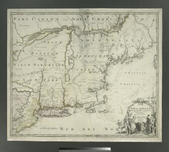 Nova Anglia Septentrionali Americae implantata Anglorumque coloniis florentissima / geographice exhibita â Ioh. Baptista Homann, sac. caes. maj. geographo.