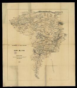 Mapa del Cadí / Cooperativa de Fluido Electrico;  aixecament Léo Aegerter