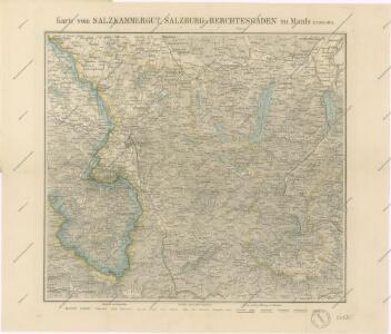 Salzkammergut Karte.Karte Vom Salzkammergut Salzburg Und Berchtesgaden