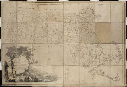 Map of Massachusetts proper compiled from actual surveys made by order of the General Court