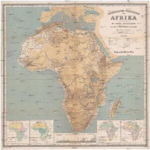Physikalische Wandkarte von Afrika