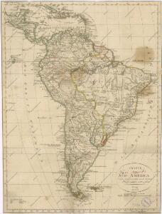 Charte von Süd - America