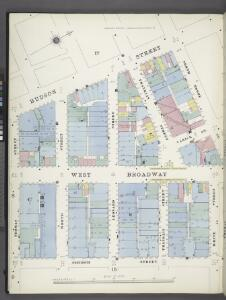 Manhattan, V. 1, Plate No. 16 south half [Map bounded by Hudson St., North Moore St., White St., Church St., Thomas St.]