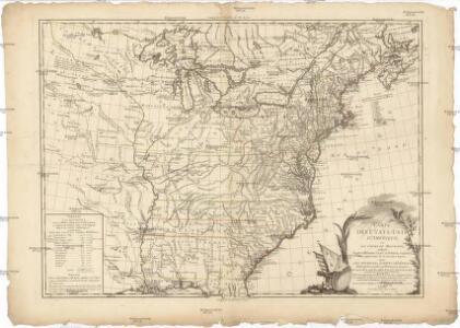 Carte des Etats-Unis d'Amérique, et du cours du Mississippi