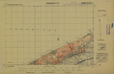 France and Belgium 1:25,000, Dunkerque, NE
