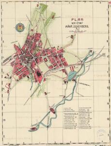 Plan der Stadt Mähr. Schönberg