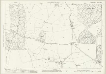 Worcestershire XXXV.8 (includes: Abbots Morton; Arrow; Salford Priors; Weethley) - 25 Inch Map