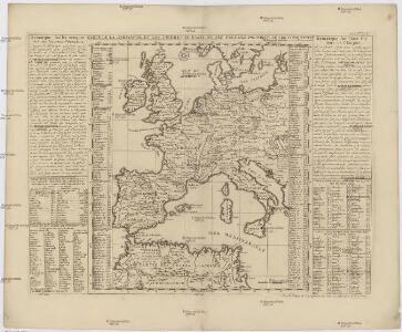 Carte de la Germanie et les diferents etats ou ses peuples ont porté leurs conquestes