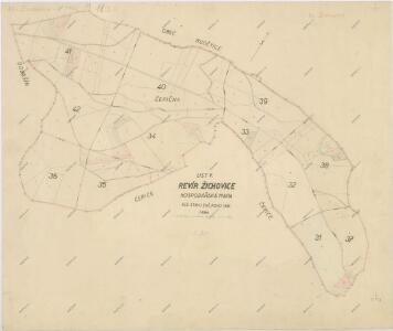 Hospodářská mapa revíru Žichovice