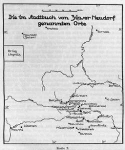 Die im Stadtbuch von Zipser Neudorf genannten Orte