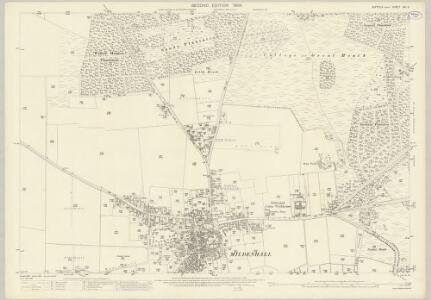 Suffolk XXI.9 (includes: Mildenhall) - 25 Inch Map