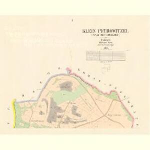 Klein Petrowitzel (Maly Petrowiczky) - c5742-1-001 - Kaiserpflichtexemplar der Landkarten des stabilen Katasters
